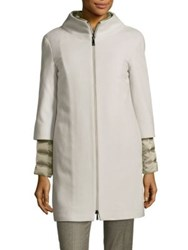 Peserico Two Piece Puffer Jacket And Coat Combo Light Grey
