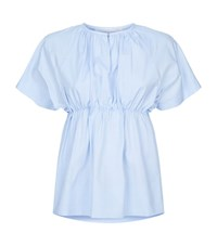 Victoria Beckham Gathered Empire Top Female White
