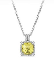 David Yurman Chatelaine Pave Bezel Pendant Necklace With Lemon Citrine And Diamonds