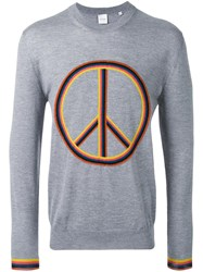 Paul Smith Peace Sign Jumper Grey