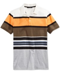 Sean John Men's Core Big And Tall Stripe Polo Sj Cream