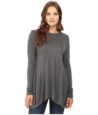 Culture Phit Fara Long Sleeve Top Charcoal Women's Sweater Gray