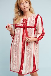 Anthropologie Joselle Dress Bright Red