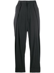 Ann Demeulemeester Cropped Pleated Belt Trousers 60