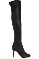 Jimmy Choo Toni Stretch Leather Over The Knee Boots