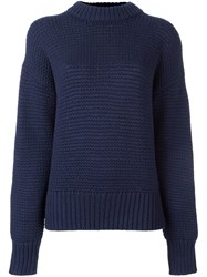 Dkny Crew Neck Jumper Blue