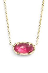 Kendra Scott Women's Elisa Birthstone Pendant Necklace October Berry Illusion