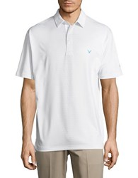 Callaway Opti Dri Golf Performance Textured Polo Bright White