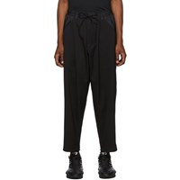 Y 3 Black Wool And Sateen Cropped Trousers