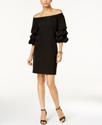 Msk Limited Puff Sleeve Off The Shoulder Dress Black