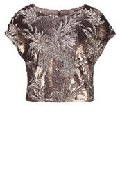 Phase Eight Patienta Print Tshirt Bronze