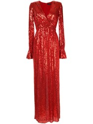 Jenny Packham Sequin Gown Red