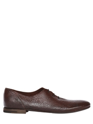 Premiata Tumbled Leather Oxford Lace Up Shoes Bordeaux
