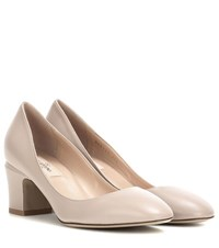 Valentino Tan Go Leather Pumps Neutrals