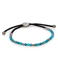 John Hardy Batu Classic Chain Turquoise And Sterling Silver Bead Bracelet Turquoise Black