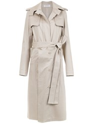 Gloria Coelho Belted Layered Trench Coat Nude And Neutrals