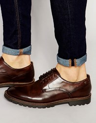 Base London Barrage Leather Derby Shoes Brown
