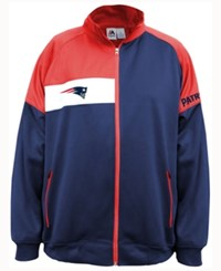 Majestic Men's New England Patriots Court Track Jacket Navy Red White