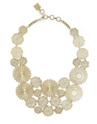 Bcbgmaxazria Filigree Disc Statement Necklace Gold