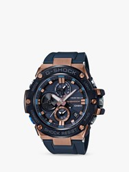 Casio Gst B100g 2Aer 'S G Shock G Steel Chronograph Connected Resin Strap Watch Navy