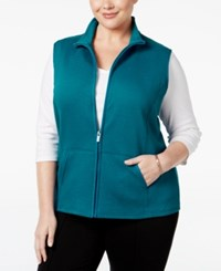 Karen Scott Plus Size Quilted Vest Only At Macy's Cascade Tide