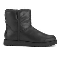 Ugg Women's Cory Leather Classic Slim Sheepskin Boots Black