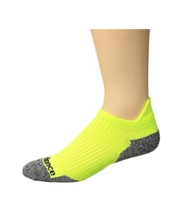 New Balance Cushioned Running No Show Tab Sock 1 Pair Pack Yellow Grey No Show Socks Shoes Multi