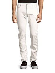 Michael Kors Cotton Blend Slim Fit Denim Jeans White