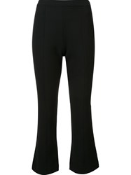 Cinq A Sept Cropped Flare Trousers Black