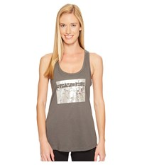 Spyder Limitless Tank Top Cirrus Silver High Density Studding Women's Sleeveless Gray