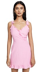 Lost Wander Guava Ruffle Mini Dress Pink