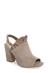 Seychelles Women's Sightseeing Ruffle Mule Taupe Suede