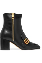 Gucci Leather Ankle Boots Black