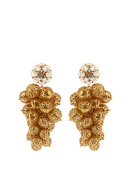Dolce And Gabbana Daisy Clustered Earrings Gold