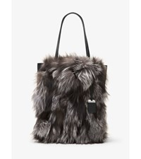 Eleanor Large Fox Fur And Leather Tote