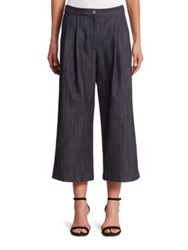 Adam By Adam Lippes Pleated Cropped Pants Dark Indigo