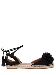 Aquazzura 20Mm Sunshine Lace Up Suede Espadrilles