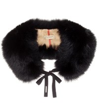 Burberry Fur Stole Black