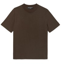 Balenciaga Cotton Jersey T Shirt Brown