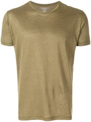 Majestic Filatures Cropped Casual T Shirt Green