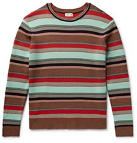 You As Mathis Striped Cotton Sweater Brown