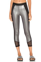 Blue Life Crop Legging Metallic Silver