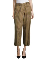 Monse Striped Wide Leg Pants Khaki Black