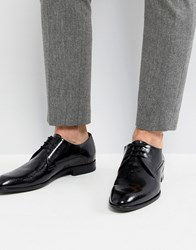 Hugo Derby Patent Leather Shoes In Black