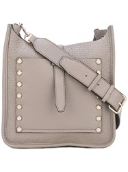 Rebecca Minkoff Stud Detail Shoulder Bag Women Leather One Size Nude Neutrals