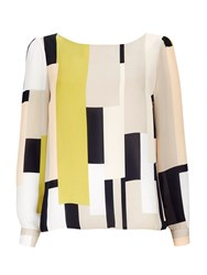 Wallis Lime Colour Block Shell Top