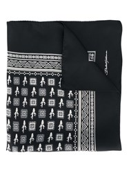 Dolce And Gabbana Cactus Print Pocket Square Black