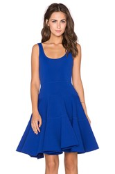 Milly Dalhia Fit And Flare Dress Blue