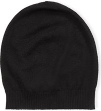 Rick Owens Knitted Medium Cashmere Beanie Black