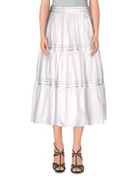 Ralph Lauren Black Label Skirts 3 4 Length Skirts Women White